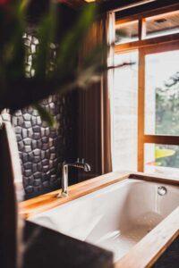 Freistehende Badewanne Holz
